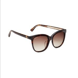 Gucci Havana green tortoise sunglasses 55mm